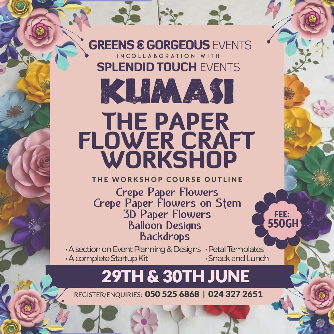 3D paper flower craft workshop