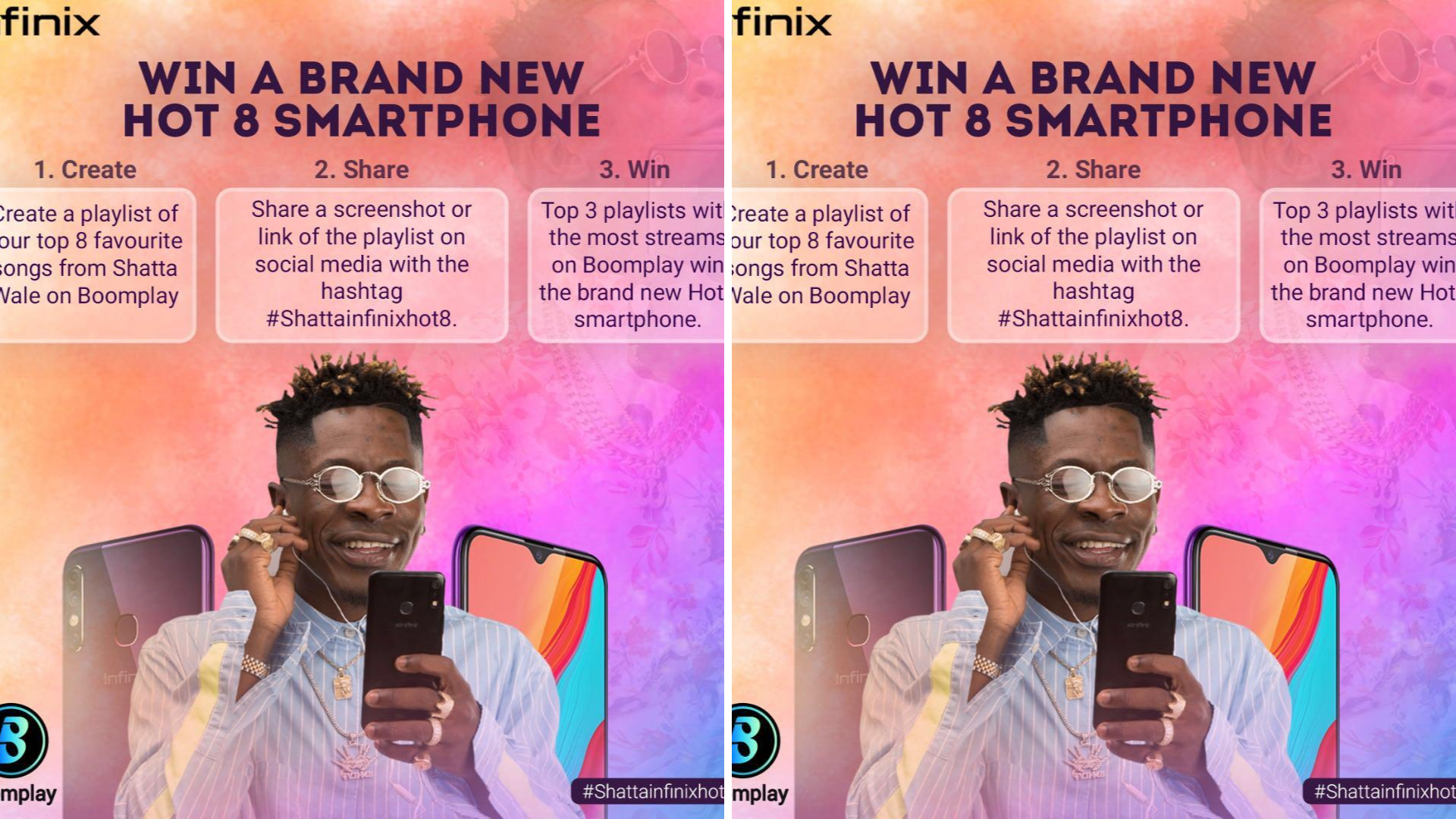 How to win a Brand new Infinix Hot 8 Smartphone from Shatta Wale