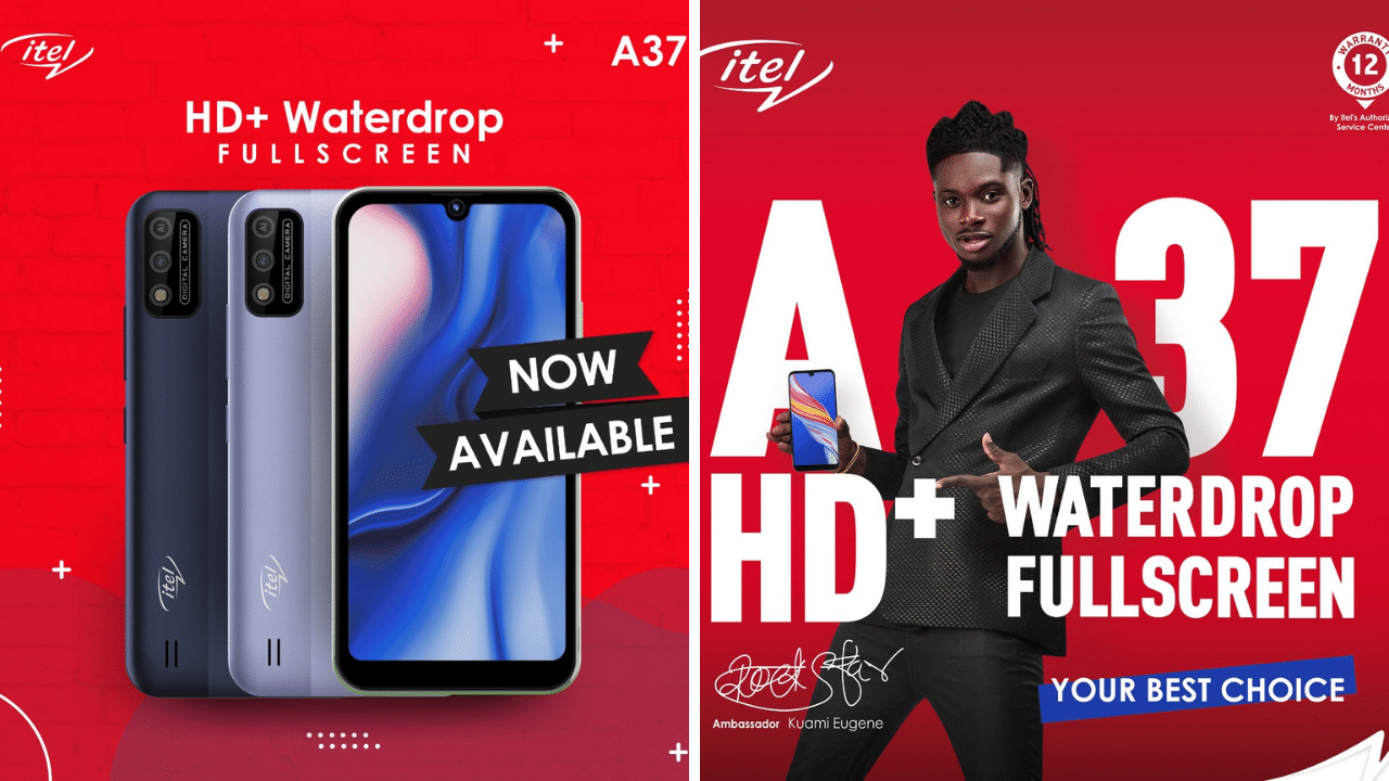 itel Releases the Stylish A37 Smartphone into the Ghanaian Market